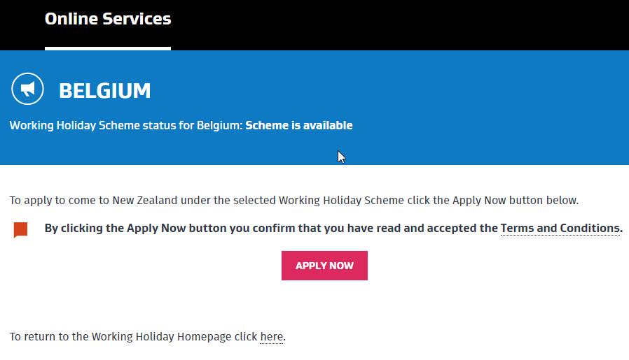 Nový Zéland Working Holiday